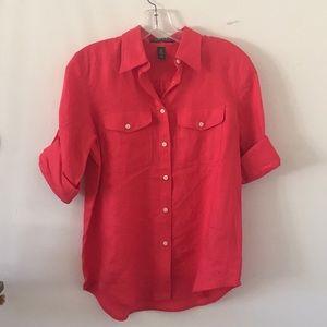 Ralph Lauren Red Linen Top